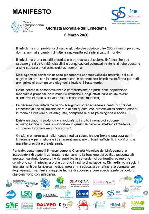 Manifesto-LINFEDEMA